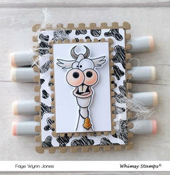 Whimsy Stamps Hee Haw -leimasin- ja stanssisetti