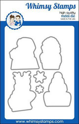 Whimsy Stamps Gossip Holiday Girls Outlines -stanssisetti