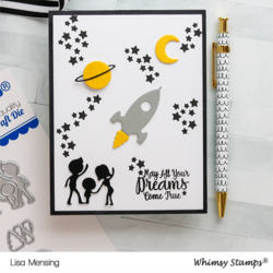 Whimsy Stamps Space Ships -stanssisetti