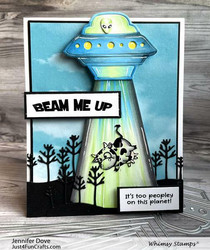 Whimsy Stamps UFO -stanssisetti