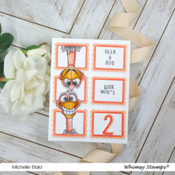 Whimsy Stamps Scallop Six A2 -stanssi