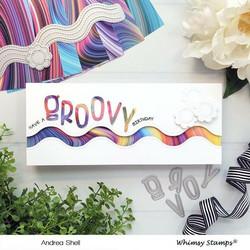 Whimsy Stamps Slimline Wavy Edger -stanssisetti