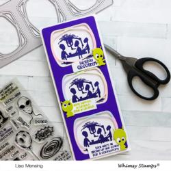Whimsy Stamps Slimline Observation Deck -stanssi