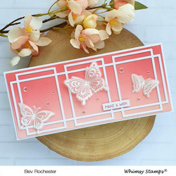 Whimsy Stamps Slimline Connected Rectangles -stanssi