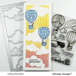 Whimsy Stamps Slimline Clouds -stanssisetti
