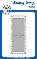 Whimsy Stamps Slimline Scallop Peekaboo 1 -stanssisetti