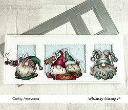 Whimsy Stamps Slimline Scenic Window -stanssi