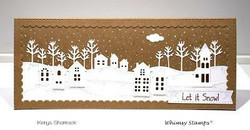 Whimsy Stamps Slimline Scenic Countryside -stanssisetti