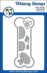 Whimsy Stamps Slimline Dog Bone -stanssisetti