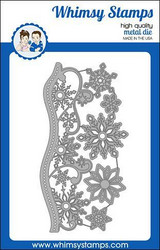 Whimsy Stamps Elegant Snowflakes and Border -stanssisetti