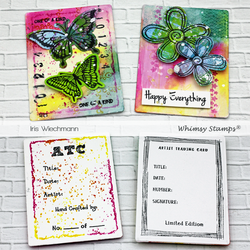Whimsy Stamps Slimline ATC Windows -stanssisetti