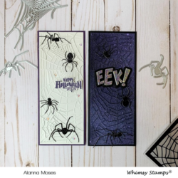 Whimsy Stamps kohokuviointikansio Broken Web, Slimline