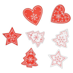 Docrafts Christmas Nordic Wooden Shapes -puukoristeet