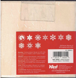 Docrafts Christmas Mixed Wooden Shapes Snowflakes -puukoristeet