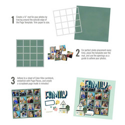 Simple Stories Simple Pages Page Template #7 -sapluuna