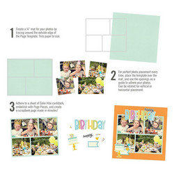 Simple Stories Simple Pages Page Template #9 -sapluuna