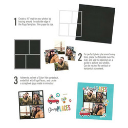 Simple Stories Simple Pages Page Template #10 -sapluuna