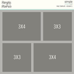 Simple Stories Simple Pages Page Template #11 -sapluuna