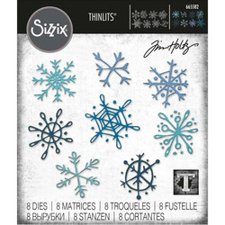 Sizzix Thinlits stanssi Scribbly Snowflakes