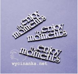 Chipboard tekstileike, enjoy the moments, 3kpl