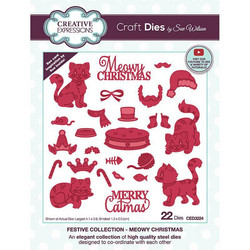 Creative Expressions stanssi Meowy Christmas