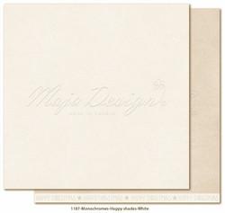 Maja Design Monochromes - Happy Shades skräppipaperi White
