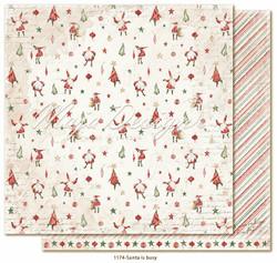 Maja Design Happy Christmas skräppipaperi Santa is busy