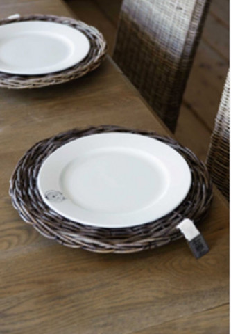 Rustic Rattan Plate Riviera Maison