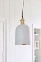Coqotte Hanging Lamp White, Riviera Maison