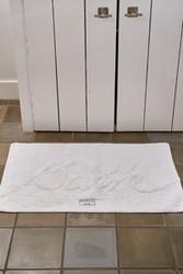 Bath Mat Bath, pure White, Riviera Maison