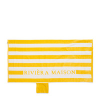 RM Lovely Str Beach Towel wh/ye, Riviera Maison