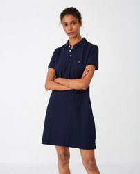 Laura Pique Polo Dress, Lexington
