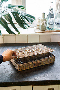 Rustic Rattan Classic Cutlery Tray, Riviera Maison