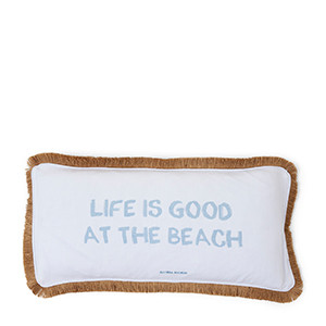 Life Is Good Pillow Cover White, Riviera Maison