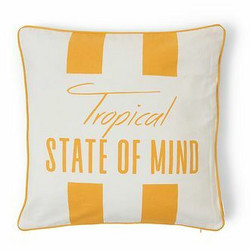 Tropical State Of Mind Outdoor Pillow Cover yellow Riviera Maison