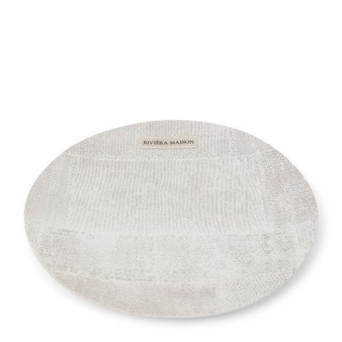 Rustic Rough Linen Plate, Riviera Maison
