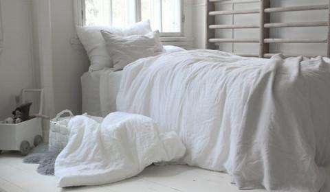 Heaven Linen Baby setti Valkoinen logo vaaleansininen, Käinby