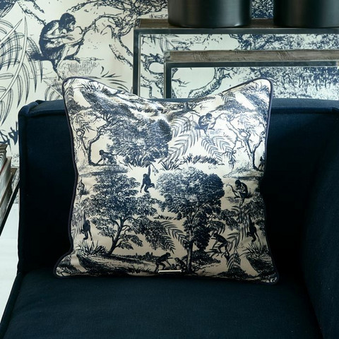 Toile Printed Pillow Cover 50x50, Riviera Maison