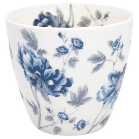 Stoneware Latte Cup Charlotte White, Greengate