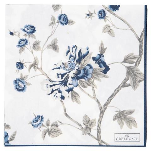 Paper Napkin Charlotte White Large 20pcs, Greengate