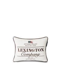 White  Lexington Logo Cotton tyyny white/Brown