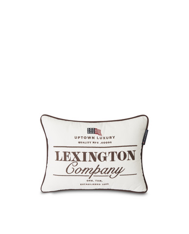 White  Lexington Logo Cotton tyyny white/Brown