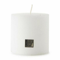 Rustic Candle frosted White 10x10, Riviera Maison