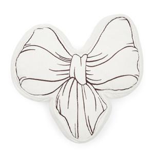 Ballad Mauve Bow Pillow White, Riviera Maison