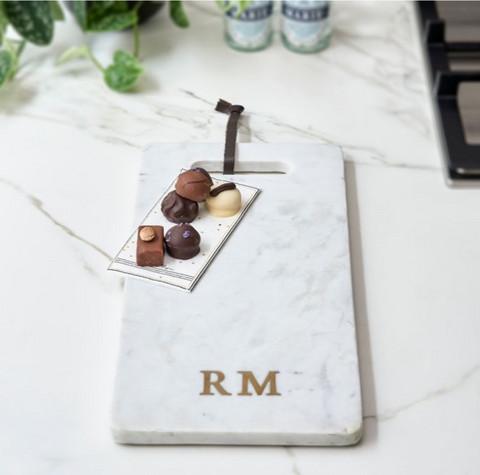 Magic Marble Serving Plate white, Riviera Maison