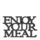 Enjoy Your Meal Trivet black, Riviera Maison