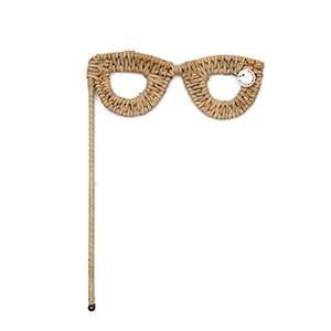 Rustic Rattan Photobooth Glasses, Riviera Maison