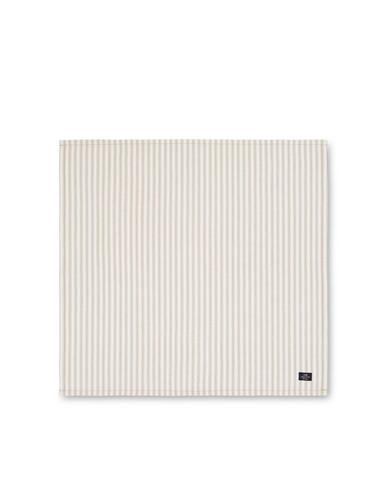 Icons Cotton Herringbone Striped Napkin, Beige/White 50x50, Lexington