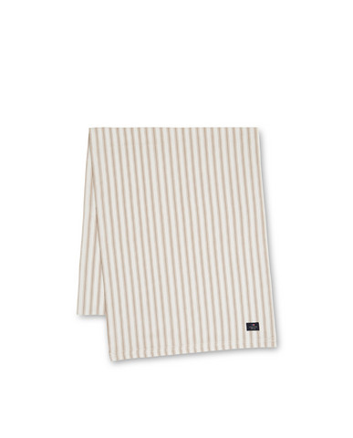 Icons Cotton Herringbone Striped Runner, Beige/White 50x150, Lexington
