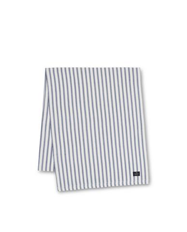 Icons Cotton Herringbone Striped Runner, Blue/White 50x150, Lexington